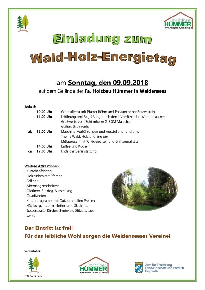Wald-Holz-Energietag 2018